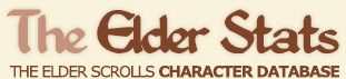 The Elder Stats | The Elder Scrolls Character Database